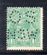 T1160 - NEW SOUTH WALES  AUSTRALIA , Head  Servizio Perforato OS NSW  : Il 1 1/2  Pence  Fil  Crown On A Usato - 1850-1906 New South Wales