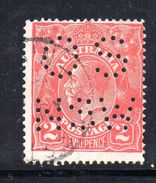 T1162 - NEW SOUTH WALES  AUSTRALIA , Head  Servizio Perforato OS NSW  : Il 2  Pence  Fil  Crown On A Usato - 1850-1906 New South Wales