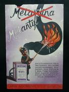 Metantyl Anticolinergico Ulcera Pubblicità Farmacia Cartoncino Pompieri 1952 - Vecchi Documenti