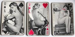3 Cartes à Jouer érotique Vintage Roi Pin Up Nue Femme Années 60-70 - Barajas De Naipe
