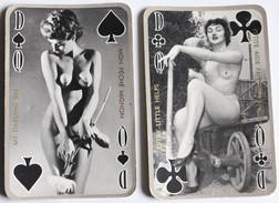 2 Cartes à Jouer érotique Vintage Dame Pin Up Nue - Speelkaarten