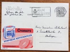 ALIMENTARI CREMERS KEMPISCHE KOFFIEWAFELEN BELGIO BELGIQUE INTERO POSTALE PUBBLICITARIO 1954 - Alimentazione