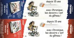 Marque Page BD Edition CHRONIQUES Pour GASTON LAGAFFE - Marque-pages
