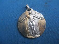Médaille /Sports/Gymnastique/Office Du Sport Scolaire Et Universitaire/Bronze Nickelé /Fraisse Vers 1920- 1930    SPO222 - Athlétisme