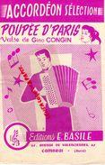 59-CAMBRAI-RARE PARTITION MUSIQUE-ACCORDEON POUPEE D' PARIS-VALSE GINO CONGIN-EDITIONS E. BASILE 61 AV.VALENCIENNES-1958 - Scores & Partitions