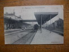 "épernay , Vue Intérieure De La Gare """" Carte Animée """" - Epernay"