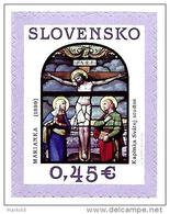 Slovakia - 2014 - Easter 2014: Crucifixion – Stained Glass Windows Of Romanticism - Mint Scented Booklet Stamp - Slowakije