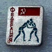 Pins/badges-quality,rare- WRESTLING FEDERATION OF USSR. - Wrestling