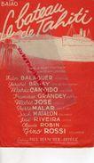 TAHITI-PARTITION MUSIQUE-LE BATEAU DE TAHITI-BAIAO-EDDIE BARCLAY-EDOUARD DULEU-YVETTE HORNER-LOULOU LEGRAND-VERCHUREN- - Scores & Partitions