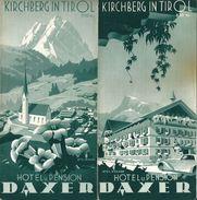 Dépliant Touristique 1939 Station D'Été KIRCHBERG In Tirol Hôtel Pension DAXER - Dépliants Touristiques