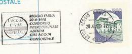 1990 ITALY COVER SLOGAN Pmk GAS WATER Intercomununal HOLDING CONSORTIUM EVENT Reggio Postal Stationery Card Energy Stamp - Gas