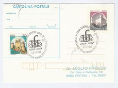 1992 Rome ITALY COVER EVENT Pmk PHARMACY Famacopea Centenary Postal Stationery Card Health Medicine Stamps Castle - Pharmacy