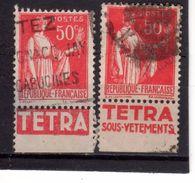 N° 283--Type III---PUB  TETRA - Advertising