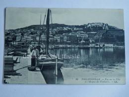 FRANCIA FRANCE Colonie ALGERIA PHILIPPEVILLE Skikda Fisherman Ville Hospice Vieillards Old Postcard - Skikda (Philippeville)
