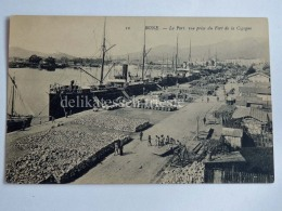 FRANCIA FRANCE Colonie ALGERIA BONE ANNABA Le Port Fort De La Cigogne Ship Old Postcard - Annaba (Bône)