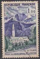 FRANCE 1960 Tourist Publicity. - 1f Cilaos Church & Great Bernard Mountains, Reunion FU - France