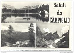 SALUTI DA CAMPIGLIO ( TRE FINESTRE) VIAGGIATA FG - Trento