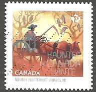 Sc. #2862 Haunted Canada, Red River, Winnipeg Booklet Single Used 2015 K006 - 1952-.... Règne D'Elizabeth II
