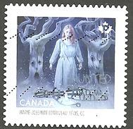 Sc. #2864 Haunted Canada, Marie-Josephte Corriveau Booklet Single Used 2015 K013 - 1952-.... Règne D'Elizabeth II