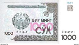 Uzbekistan - Pick 82 - 1000 Sum 2001 - Unc - Ouzbékistan