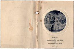 VP11.150 - Ancien Menu De 1951 -  Mariage De Melle Janine GUEVELLOU & De Mr Claude LAFORGUE - Menus