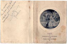 VP11.151 - Ancien Menu De 1951 -  Mariage De Melle Janine GUEVELLOU & De Mr Claude LAFORGUE - Menus