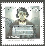 Sc. #2863 Haunted Canada, Carabou Hotel, Yukon Booklet Single Used 2015 K077 - 1952-.... Règne D'Elizabeth II