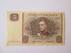 Sweden 5 Kronor 1963 Banknote AUNC - Suède