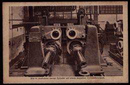 AK Hanomag  , Hannover - Linden, Werdegang Eines Lokomotivzylinders, Ausbohren Zweier Zylinder - CYLINDRE MACHINE - Industrie