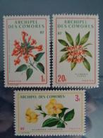 COMORES 1971 CERES N° 69 à 71 ** - SERIE DES FLEURS - Comoro Islands (1950-1975)