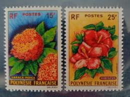 POLYNESIE 1962 Y&T N° 15 & 16 ** - FLEURS DIVERS - Neufs