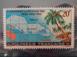 POLYNESIE 1962 Y&T N° 17 ** - 5e CONFERENCE DU PACIFIQUE SUD A PAGO PAGO - Neufs