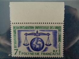 POLYNESIE 1963 Y&T N° 25 ** - 15e ANNIV. DE LA DECLARATION UNIVSERSELLE DES DROITS DE L'HOMME - Neufs