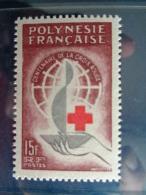POLYNESIE 1963 Y&T N° 24 ** - CENTENAIRE DE LA CROIX ROUGE INTERNATIONALE - Neufs