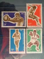 POLYNESIE 1969 Y&T N° 66 à 69 ** - 3e JEUX SPORTIFS A PORT MORESBY - Polynésie Française