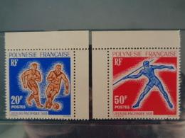 POLYNESIE 1963 Y&T N° 22 & 23 ** -  JEUX DU PACIFIQUE SUD, SUJETS DIVERS - Neufs
