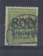 Reich Michel Kat.Nr. Gest 302A  Gepr Infla - Oblitérés