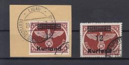 Reich Michel Kat.Nr Gest Kurland 4 A/B - Besetzungen 1938-45