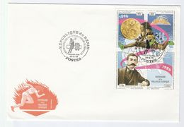 1996 BENIN FDC Sport OLYMPIC PHILATELY CENTENARY Stamps Cover Olympics Games Athletics - Summer 1896: Athens