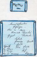 VP11.163 - Ancien Menu De 1965 - Baptème  Daniel ( Famille ALLO X LE DUIGOU ) - Menus
