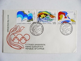 Cover Fdc Special Cancel Olympic Games Moscow 1980 Russia Ussr Swimming - Cyprus (Republic)