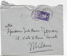 STORIA POSTALE REGNO - BUSTA INTESTATA RETRO DA ROMA 26.08.1932 AUGUSTO ISOLATO - Marcophilie