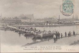 Arras -  école De Pont Du Génie (lancement D'un Pont De Bateaux Au Rivage) - Arras