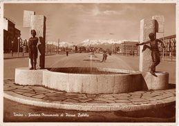 "06784 ""(TO) FONTANA MONUMENTO DI PIAZZA BALILLA ORA PIAZZA GALIMBERTI"" ANIMATA. CART  SPED 1938 - Piazze"