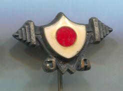 Weightlifting / Gewichtheben - JAPAN FEDERATION, Vintage Pin Badge, Abzeichen - Weightlifting