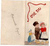 VP11.167 - Ancien Menu De 1928 - Dessin à La Main Par Mme G. LE DUIGOU - Menus