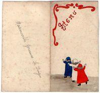 VP11.169 - Ancien Menu De 1928 - Dessin à La Main Par Mme G. LE DUIGOU - Menus