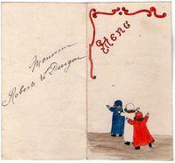 VP11.170 - Ancien Menu De 1926 - Dessin à La Main Par Mme G. LE DUIGOU - Menus