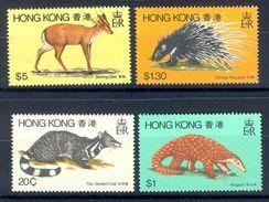 S236- Hong Kong 1982 Animals Deer Pangolin Banded Civet & Chinese Porcupine. - Hong Kong (1997-...)