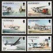 GUERNSEY 1989 - 50Yrs Airport + RAF On J. / Aircraft Aviation - 6v Mi 453-458 MNH ** Cv€5,50 D426j - Guernsey